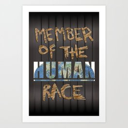 Human Race Art Print