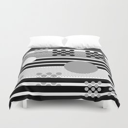 Black and White Contemporary Galaxy Duvet Cover