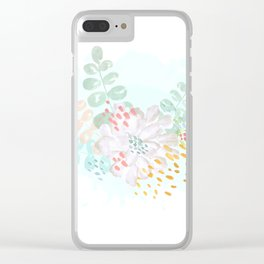 Paint splatter flower Clear iPhone Case