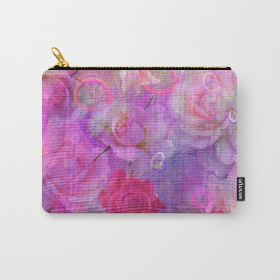 Dream Roses in soft pink, purple and orange Carry-All Pouch