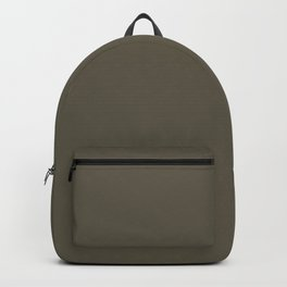 Dark Olive Green Brown Solid Color Pairs To Sherwin Williams Garden Gate SW 6167 Backpack