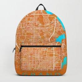 Grand Prairie, TX, USA, Gold, Blue, City, Map Backpack