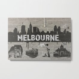 MELBOURNE GRAFFITI 2 Metal Print