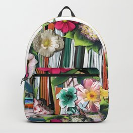 Flower pattern. For textile, wallpaper, pattern fills, covers, surface, printing, gift wrap, scrapbooking, jigsaws. Seamless pattern Backpack