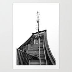 Roof radio antenna Art Print