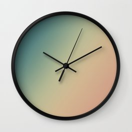 Evening Sand - Gradients are the new colors. Wall Clock