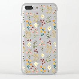 Summer Botanicals Clear iPhone Case