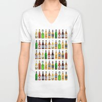 beer V-neck T-shirts featuring BEER by BearandBugle