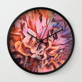 Painted Peony Twilight Wall Clock