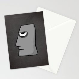 Stone bad face Stationery Cards