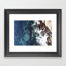 Rock Water Framed Art Print