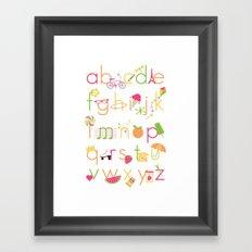 Alphabet for Girls Framed Art Print