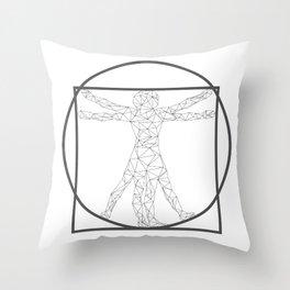 The vitruvian triangles Throw Pillow