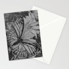 Monarch over Aster Stationery Cards