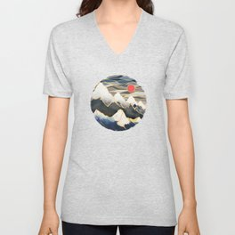 Ice Mountains Unisex V-Neck