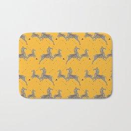 Royal Tenenbaums Zebra Wallpaper - Mustard Yellow Bath Mat