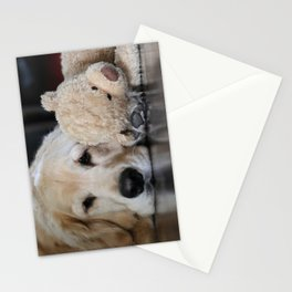 Golden Retriever with Best Friend Stationery Cards