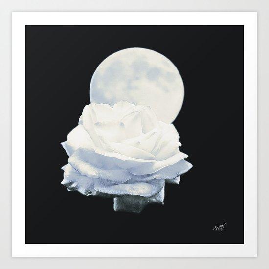 Moon Rose (2) Art Print