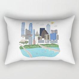 Austin Skyline Illustration Rectangular Pillow