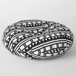 Hopi Stripe - Black and White Floor Pillow