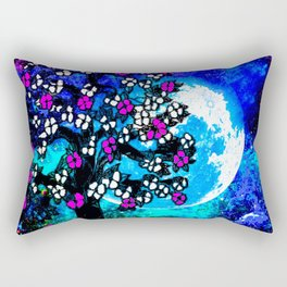 A TREE A MOON AND STARS AT NIGHT Rectangular Pillow