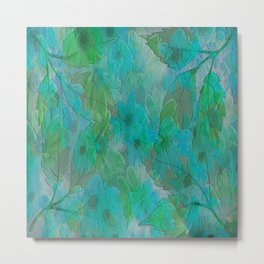 Painterly Summer Morning Floral Abstract Metal Print