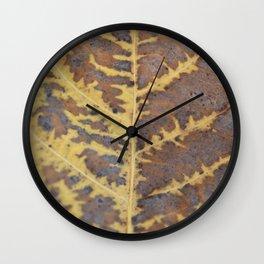 Leaf Macro Abstract Wall Clock
