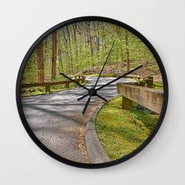 Rock Creek Winding Road Wall Clock