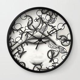 stick figures Wall Clock