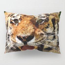 Polygon tiger Pillow Sham