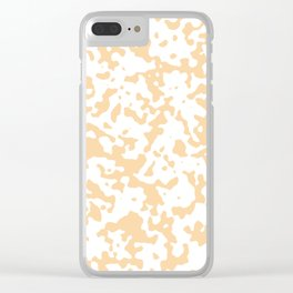 Spots - White and Sunset Orange Clear iPhone Case