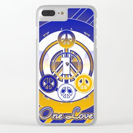 One Love (Blue) Clear iPhone Case