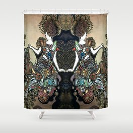 Jeweled Mermaid Shower Curtain