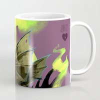 maleficent Mugs featuring Maleficent by Jennifer Ely