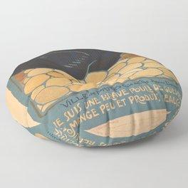 Vintage poster - I am a Fine War Hen Floor Pillow