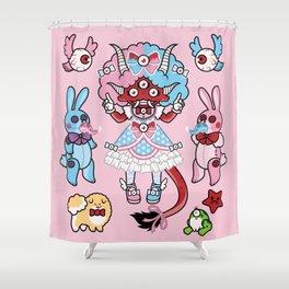 Eye Am Kawaii Krampus Shower Curtain