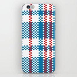 Plastic Woven Checkered Bag iPhone Skin