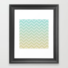 Chevron Rain Framed Art Print