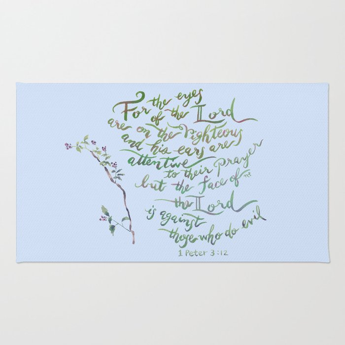 Eyes of the Lord - 1 Peter 3:12 Rug