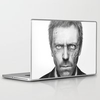house md Laptop & iPad Skins featuring House MD by Olechka