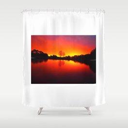 Autumn Scratchings at a Carlsruhe Sunset Shower Curtain