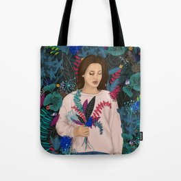 Lana in the jungle Tote Bag