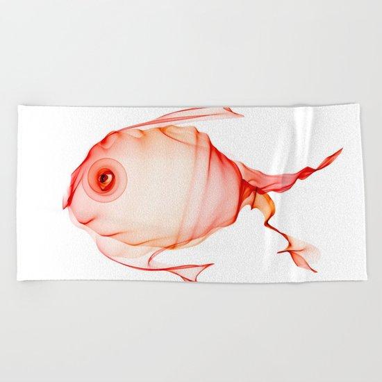 Happy Little Fish Beach Towel