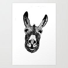 Wonky Donkey  Art Print