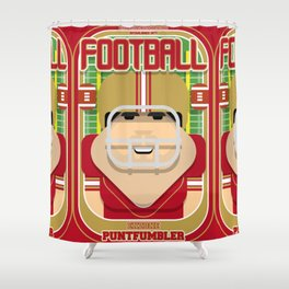 American Football Red and Gold - Enzone Puntfumbler - Victor version Shower Curtain
