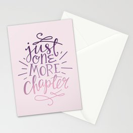 Book Nerd One More Chapter Stationery Cards
