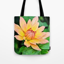 Blooming in Peach and Yellow Tote Bag