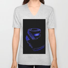 reTro Belt Electric Blue Unisex V-Neck