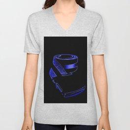 reTro Belt Electric Blue Unisex V-Neck