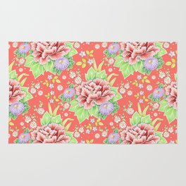 Coral Kimono Chintz Rug